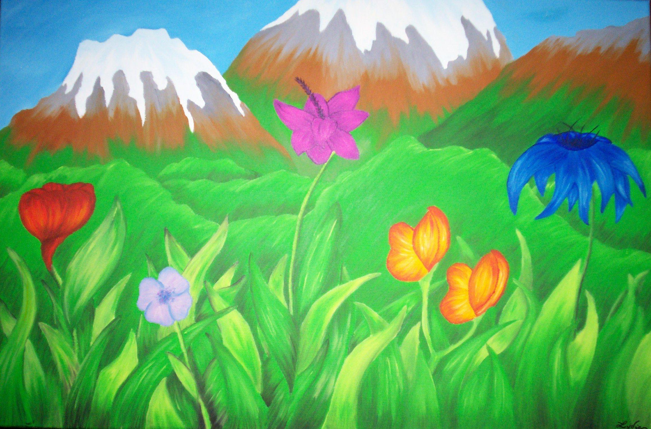 Peinture sur toile facile a realiser for Peinture sur soie facile